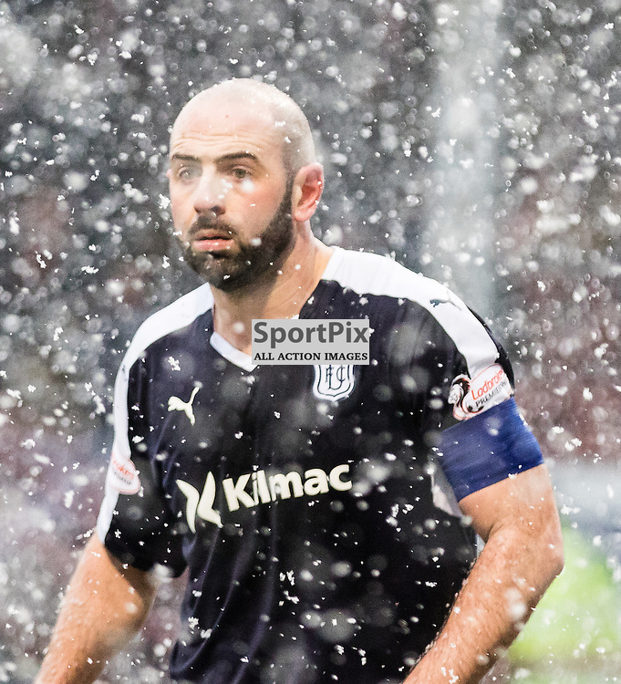 Dundee's Gary Harkins during the Partick Thistle FC V Dundee FC Scottish Premiership game, 16th January 2016; (c) BERNIE CLARK | SportPix.org.uk
