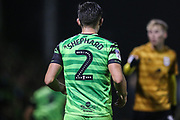 Forest Green Rovers Liam Shephard(2) during the EFL Sky Bet League 2 match between Forest Green Rovers and Crewe Alexandra at the New Lawn, Forest Green, United Kingdom on 26 October 2019.