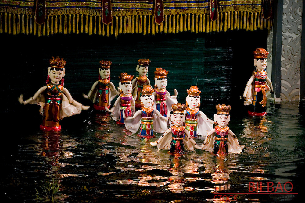 Puppets. Water puppet theather Thang Long.<br />