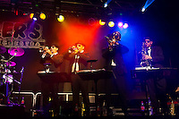 "A Blues Brothers tribute band ""Miller's Blues Orchestra"" performs at the wine festival in Offenburg, Baden-Württemberg, Germany"