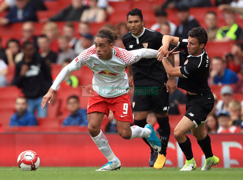 Sevilla's Wissam Ben Yedder (left) during the Emirates Cup match at the Emirates Stadium, London.