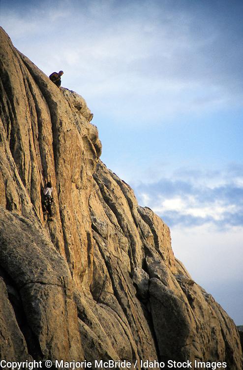 Rock Climbing, City of Rocks, Idaho.