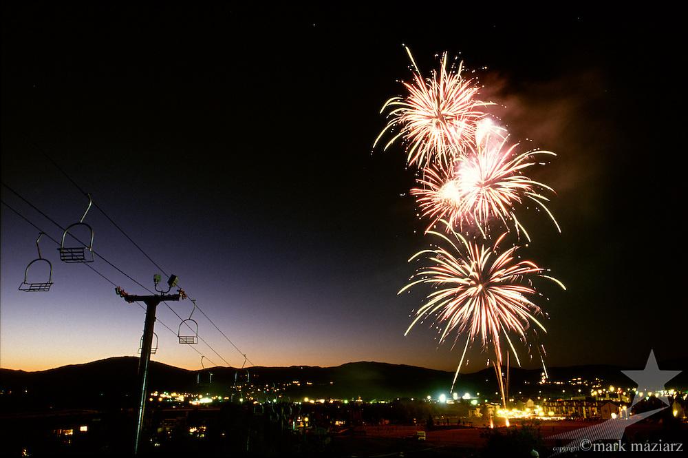 fireworks in Park City, Utah