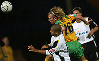 Photo: Paul Thomas.<br /> Port Vale v Norwich City. Carling Cup. 24/10/2006.<br /> <br /> George Abbey (L) of Vale and Robert Eagle go for the ball.