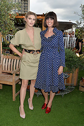 Left to right, ASHLEY JAMES and DAWN O'PORTER at a vintage fashion pop-up evening hosted by Dawn O'Porter at The Gardening Society, John Lewis, Oxford Street on 27th July 2016.