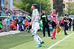 """Foto Filippo Rubin<br /> 06/05/2018 Ferrara (Italia)<br /> Sport Calcio<br /> Spal - Benvento - Campionato di calcio Serie A 2017/2018 - Stadio """"Paolo Mazza""""<br /> Nella foto: GOAL ALBERTO PALOSCHI (SPAL)<br /> <br /> Photo Filippo Rubin<br /> May 06, 2018 Ferrara (Italy)<br /> Sport Soccer<br /> Spal vs Benvento - Italian Football Championship League A 2017/2018 - """"Paolo Mazza"""" Stadium <br /> In the pic: GOAL ALBERTO PALOSCHI (SPAL)"""