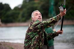 UK ENGLAND DEVON TEIGNMOUTH 10SEP16 - Angler  and carpenter Gerry Chenery (45) of Lapford at Teignmouth harbour, Devon, England.<br /> <br /> jre/Photo by Jiri Rezac<br /> <br /> &copy; Jiri Rezac 2016