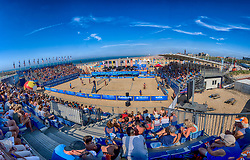 25-08-2019 NED: DELA NK Beach Volleyball, Scheveningen<br /> Last day NK Beachvolleyball / support, fans, centercourt, beach