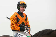 Navan Races, Saturday 27th February 2016.<br /> Jockey Roger Loughran<br /> Photo: David Mullen /www.cyberimages.net / 2016