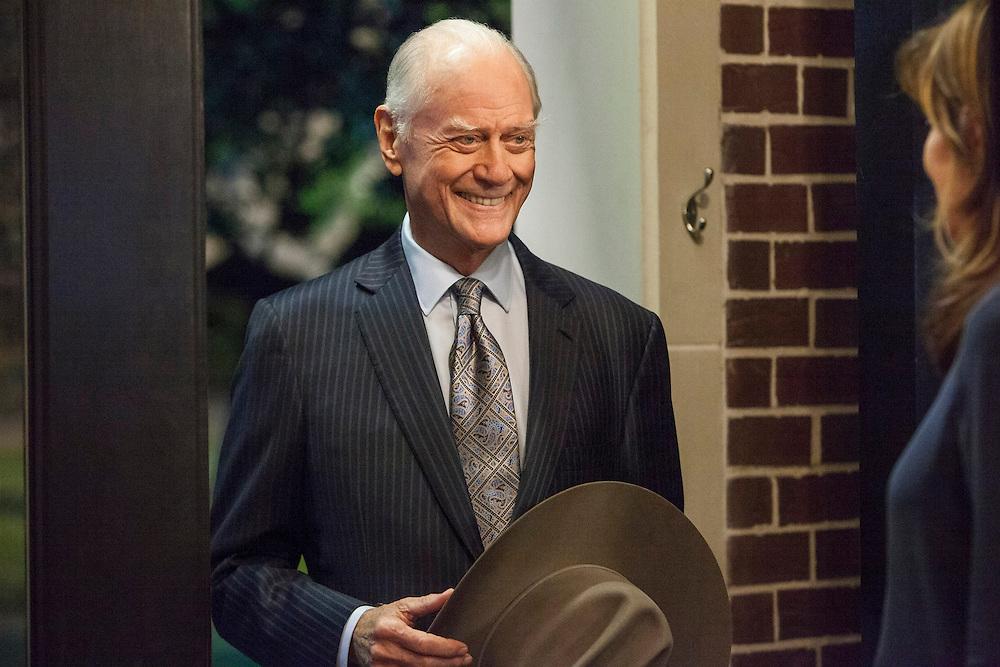 Larry Hagman as JR at Sue Ellen's home in TNT's 'Dallas'