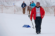 Polish trainer Kazimierz Hryn while Finals of Cross Country Relay 4 x 1000 meters Race during 2013 Special Olympics World Winter Games PyeongChang at Cross Country Skiing Venue on February 5, 2013...South Korea, PyeongChang, February 5, 2013..Picture also available in RAW (NEF) or TIFF format on special request...For editorial use only. Any commercial or promotional use requires permission...Photo by © Adam Nurkiewicz / Mediasport