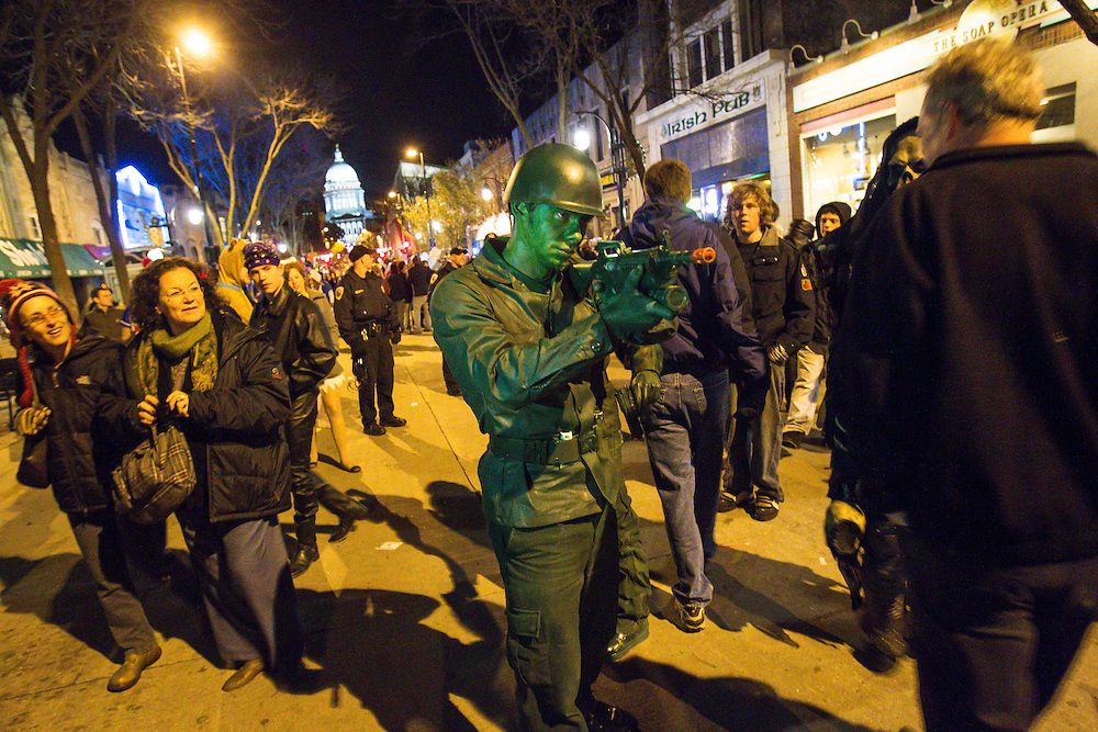 Freakfest, the annual Halloween celebration on State Street in Madison, Wis. (Photo © Andy Manis)