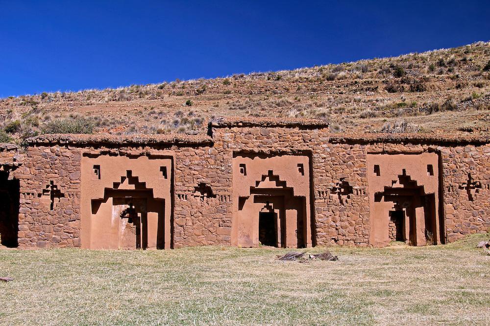 South America, Bolivia, Moon Island. Virgins of the Sun Temple on Isla de la Luna.