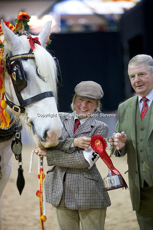 Charlotte Webb and DOTHAN SILVER COIN<br /> Winner  Decorated Harness