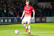 Salford City defender Scott Wiseman in action during the EFL Sky Bet League 2 match between Salford City and Grimsby Town FC at Moor Lane, Salford, United Kingdom on 17 September 2019.