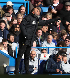 Wolverhampton Wanderers manager Nuno Espirito Santo directs his team from the sideline