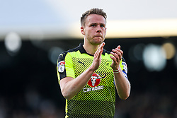 Chris Gunter of Reading thanks the fans after a 1-1 draw in the first leg - Rogan Thomson/JMP - 13/05/2017 - FOOTBALL - Craven Cottage - London, England - Fulham v Reading - Sky Bet EFL Championship Play-Off Semi Final 1st Leg.