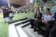 Udine, 31 agosto 2014.<br /> Serie A 2014/2015 1^ giornata. <br /> Stadio Friuli.<br /> Udinese vs Empoli.<br /> Nella foto: l'allenatore dell'Udinese Andrea Stramaccioni e il secondo allenatore dell'Udinese Dejan Stankovic.<br /> Copyright Foto Petrussi / Ferraro Simone
