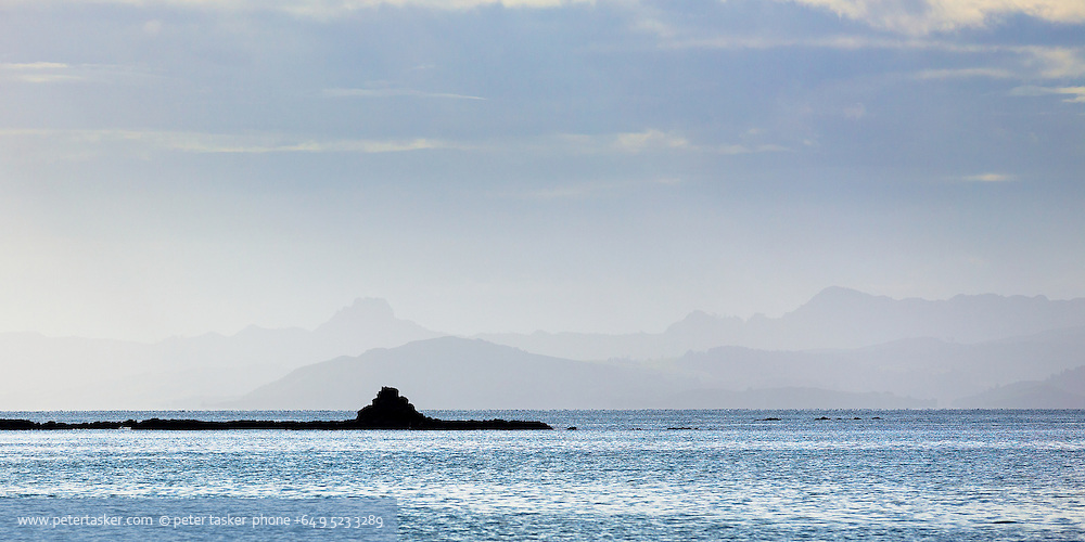 Looking out from Chamberlains Bay, Ponui Island. Minimalism.