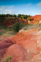 Tipo terreno do colore rosso acceso che si trova in tutta la zona circostante la cava di bauxite abbandonata di Otranto (LE).