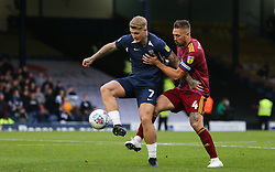 Stephen Humphrys of Southend United holds the ball up under pressure from Luke Chambers of Ipswich Town - Mandatory by-line: Arron Gent/JMP - 27/10/2019 - FOOTBALL - Roots Hall - Southend-on-Sea, England - Southend United v Ipswich Town - Sky Bet League One