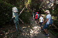 """Guided tour by """"Grillo parlante"""", (talking cricket) through the Pinocchio Park, following the story"""