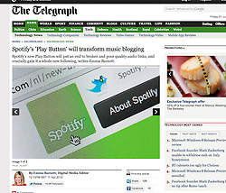 Tearsheet from The Telegraph; Spotify website