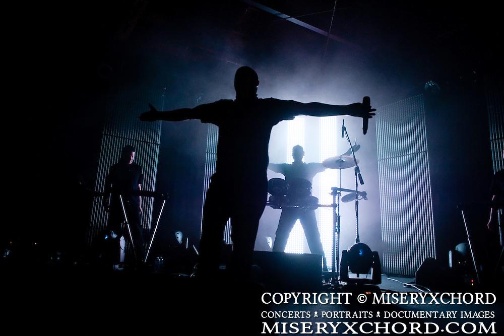 VNV Nation performing at the Glasshouse in Pomona, California USA on April 12, 2010.