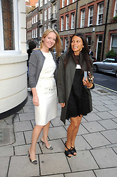 Left to right, KATE REARDON and CHRISTA D'SOUZA at the Spectator Summer Party held at 22 Old Queen Street, London SW1 on 3rd July 2008.<br />