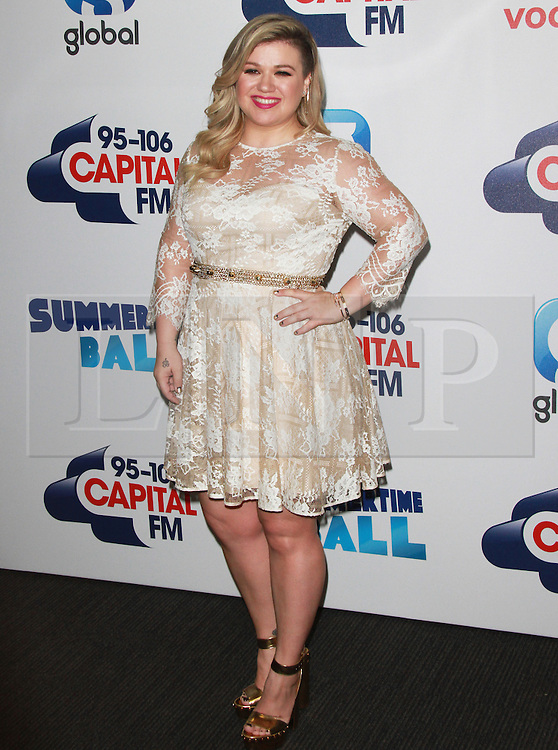 © London News Pictures. Kelly Clarkson, Capital FM Summertime Ball, Wembley Stadium, London UK, 06 June 2015, Photo by Brett D. Cove /LNP