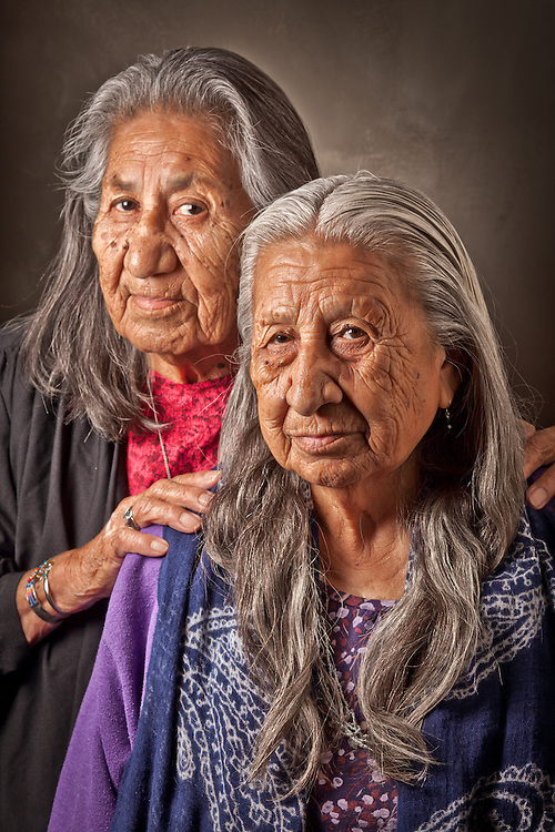 Sisters, Beatrice and Rita RVHD, during the 9th International Council of Thirteen Indigenous Grandmothers, Anchorage, Alaska