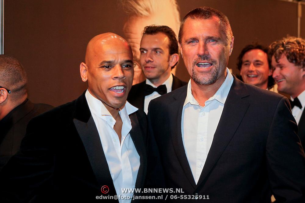 NLD/Amsterdam/20111017 - Premiere De Heineken Ontvoering, Glenn Helder en John de Wolf