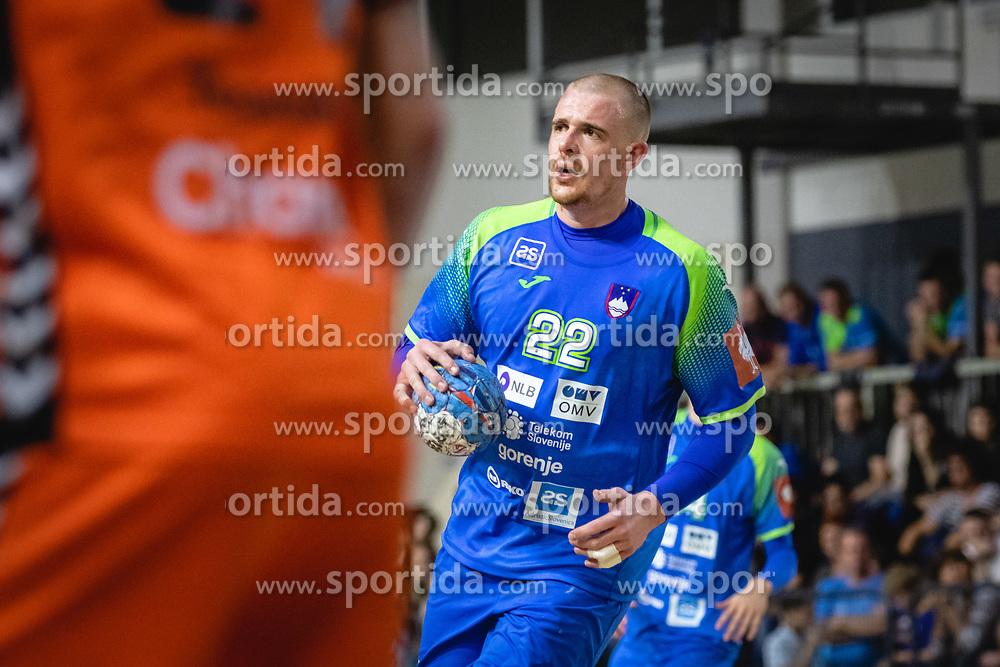 Matej Gaber of Slovenia during friendly handball match between Slovenia and Nederland, on October 25, 2019 in Športna dvorana Hardek, Ormož, Slovenia. Photo by Blaž Weindorfer / Sportida