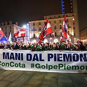 Lega Nord in corteo per difendere Cota