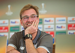 LIVERPOOL, ENGLAND - Wednesday, December 9, 2015: Liverpool's manager Jürgen Klopp during a press conference at the Fairmont Le Montreux Palace ahead of the UEFA Europa League Group Stage Group B match against FC Sion. (Pic by David Rawcliffe/Propaganda)