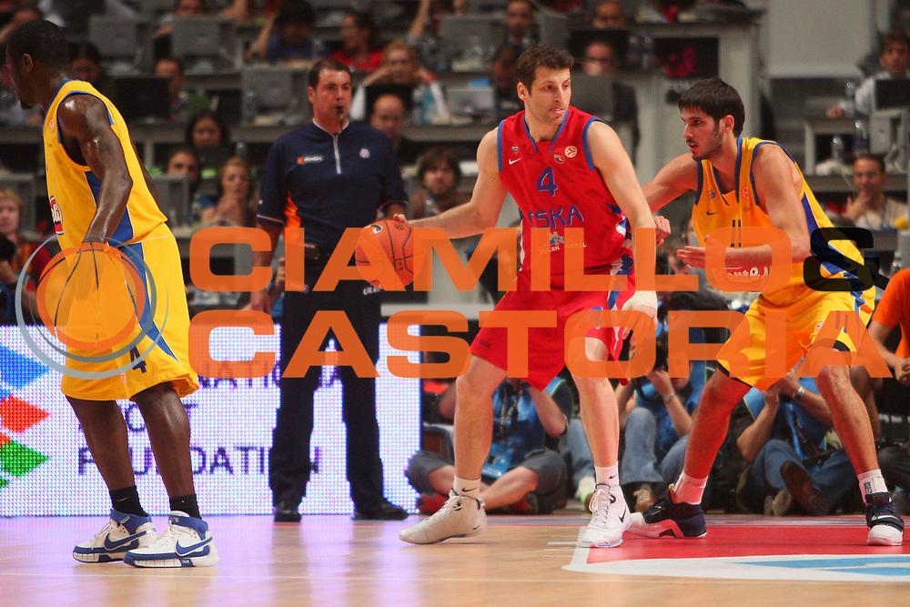DESCRIZIONE : Madrid Eurolega 2007-08 Finale Maccabi Tel Aviv Cska Mosca <br /> GIOCATORE : Theodoros Papaloukas <br /> SQUADRA : Cska Mosca <br /> EVENTO : Eurolega 2007-2008 <br /> GARA : Maccabi Tel Aviv Cska Mosca <br /> DATA : 04/05/2008 <br /> CATEGORIA : Palleggio <br /> SPORT : Pallacanestro <br /> AUTORE : Agenzia Ciamillo-Castoria/S.Silvestri <br /> Galleria : Eurolega 2007-2008 <br /> Fotonotizia : Madrid Eurolega 2007-2008 Final Four Finale Maccabi Tel Aviv Cska Mosca<br /> Predefinita :