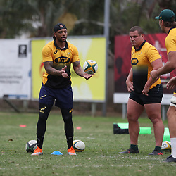 DURBAN, SOUTH AFRICA - AUGUST 14: Lionel Mapoe during the South African national rugby team training session at Jonsson Kings Park on August 14, 2018 in Durban, South Africa. (Photo by Steve Haag/Gallo Images)
