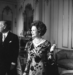 The COUNTESS OF ROSSE at the French Embassy, Kensington Palace Gardens, London on 14th June 1965.