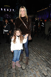 CAROLINE HABIB and her daughter YASMIN HABIB at Skate presented by Tiffany & Co at Somerset House, London on 22nd November 2010.