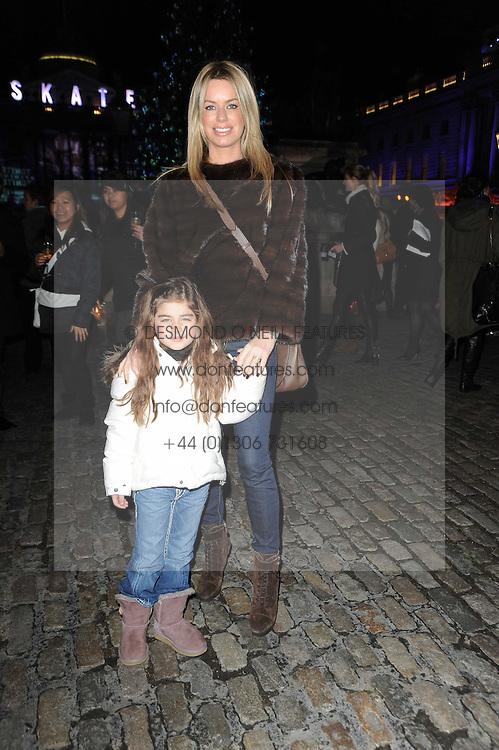CAROLINE HABIB and her daughter YASMIN HABIB at Skate presented by Tiffany & Co at Somerset House, London on 22nd November 2010.
