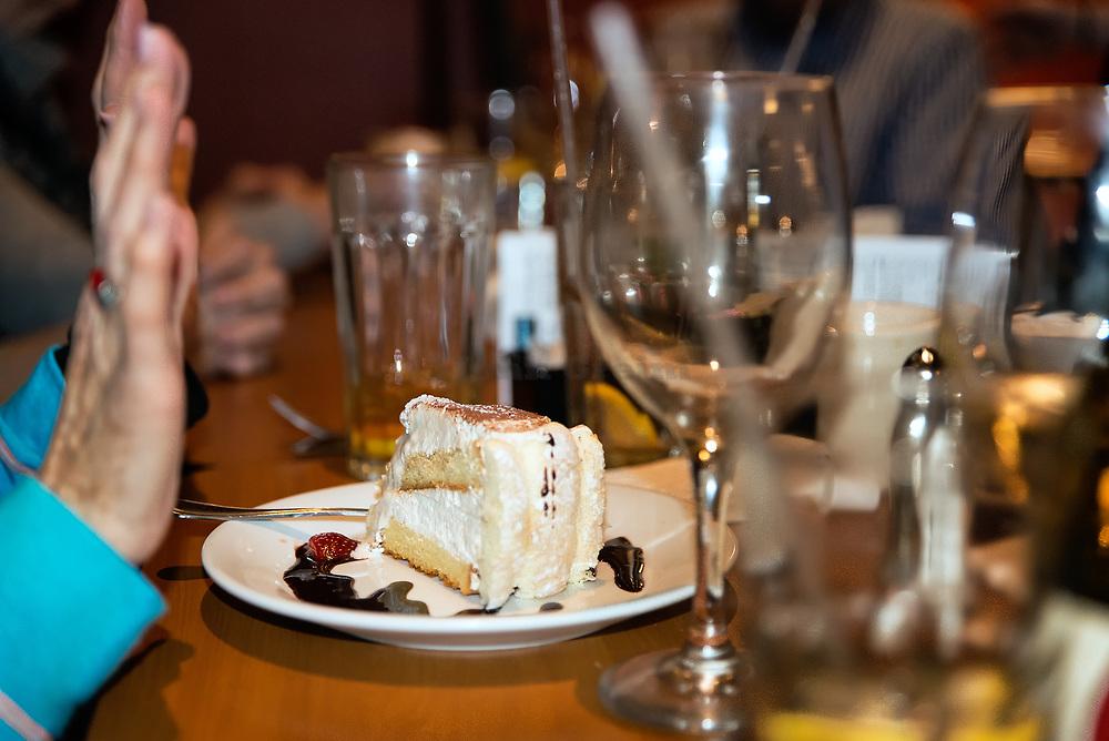 Refusing the temptation to eat high calorie dessert.