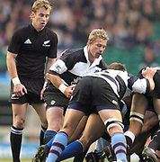 2004_'The Gartmore Challenge' - Barbarians_vs_New-Zealand..Traditional 'Haka' before the game.Baa baa's scrum half Justin Marshal [right] and  Jmmy Cowan [both New Zealander's].04.12.2004 Photo  Peter Spurrier. .email images@intersport-images.com...