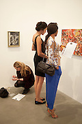 DAISY DE VILLENEUVE; VERONIQUE HAWA; CHANTELLE STEPHENSON; , Artists for Women for Women International, A PRIVATE VIEW AND LAUNCH RECEPTION OF LEADING CONTEMPORARY ARTISTS WHO HAVE DONATED WORKS TO BE AUCTIONED AT CHRISTIEÕS POST-WAR AND CONTEMPORARY SALE TO BENEFIT WOMEN FOR WOMEN INTERNATIONAL. Gagosian Gallery. Britannia St. London. 27 September 2011. <br /> <br />  , -DO NOT ARCHIVE-© Copyright Photograph by Dafydd Jones. 248 Clapham Rd. London SW9 0PZ. Tel 0207 820 0771. www.dafjones.com.<br /> DAISY DE VILLENEUVE; VERONIQUE HAWA; CHANTELLE STEPHENSON; , Artists for Women for Women International, A PRIVATE VIEW AND LAUNCH RECEPTION OF LEADING CONTEMPORARY ARTISTS WHO HAVE DONATED WORKS TO BE AUCTIONED AT CHRISTIE'S POST-WAR AND CONTEMPORARY SALE TO BENEFIT WOMEN FOR WOMEN INTERNATIONAL. Gagosian Gallery. Britannia St. London. 27 September 2011. <br /> <br />  , -DO NOT ARCHIVE-© Copyright Photograph by Dafydd Jones. 248 Clapham Rd. London SW9 0PZ. Tel 0207 820 0771. www.dafjones.com.