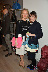 Left to right, MARTHA WARD and SHEHERAZADE GOLDSMITH at a party hosted by Melissa Del Bono to celebrate the launch of her Meli Melo flagship store at 324 Portobello Road, London W10 on 28th November 2013.