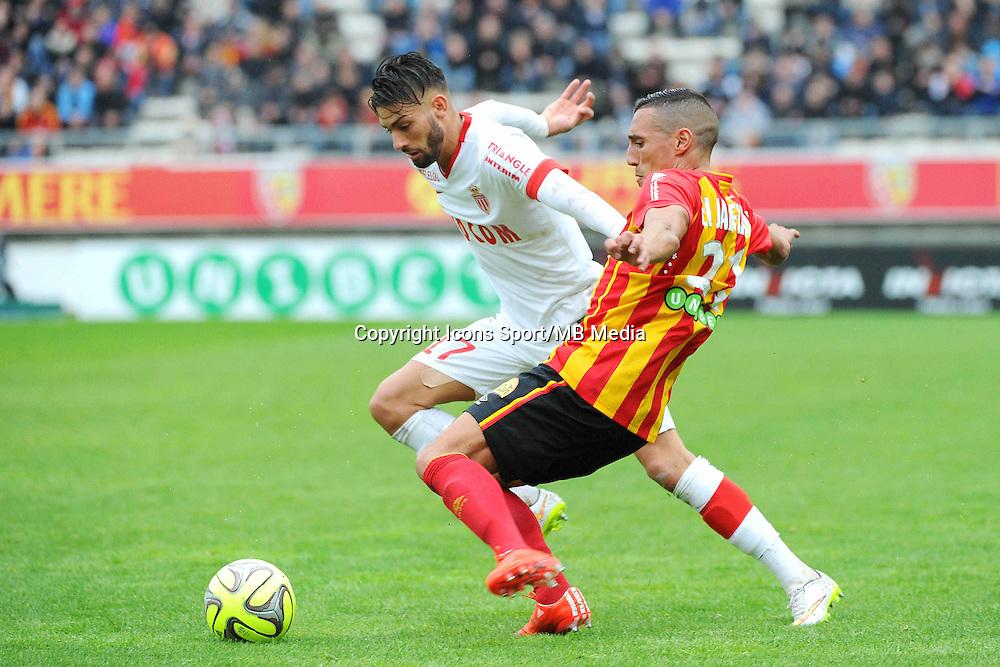 Yannick FERREIRA CARRASCO / Alharbi EL JADEYAOUI - 26.04.2015 - Lens / Monaco - 34eme journee de Ligue 1<br />Photo : Nolwenn Le Gouic / Icon Sport