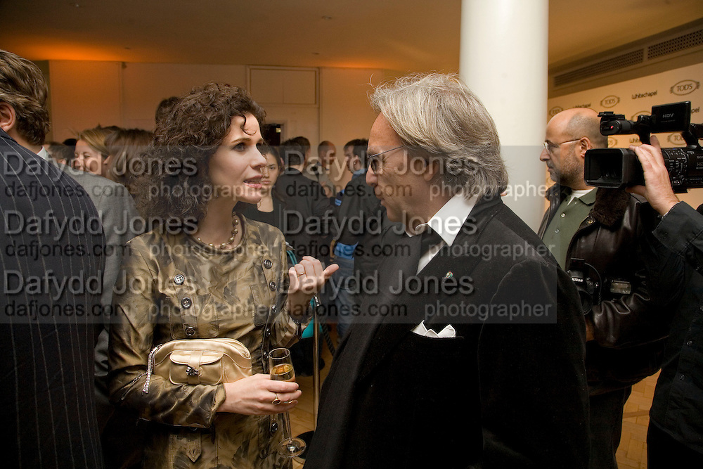 MOLLIE DENT-BROCKLEHURST AND DIEGO LA VALLE, TOD'S Art Plus Film Party 2008. Party to raise funds for the Whitechapel art Gallery.  One Marylebone Road, London NW1, 6 March, 8.30 - late<br />