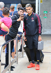 Andreas Pereira is spotted at the Manchester Airport, UK as the Manchester United Football Club return from their USA Pre-Season tour on July 1, 2018.