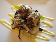 Roasted Cuttlefish, Black Trumpet Mushrooms
