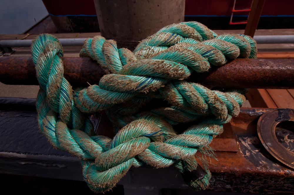 Rope on Fishing Boat, Kodiak Island, Alaska, US