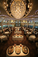 Celebrity Solstice Launch, Miami, Florida..Grand Epernay dining room